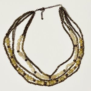 ✨2/$20 🌞 Gold Beaded Statement Necklace